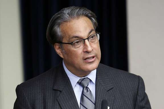 Sheriff Ross Mirkarimi holds press conference at City Hall to discuss the Sheriff's Department's preliminary findings on the case of Lynne Spalding, the SF General Hospital patient who was missing for nearly three weeks before her body was found in a stairwell, in San Francisco, CA Wednesday, November 6, 2013.