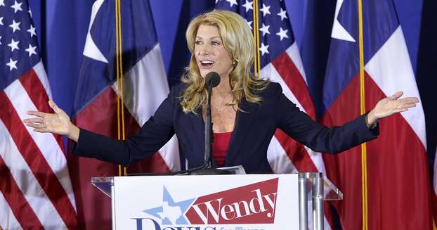 State Sen. Wendy Davis announces her candidacy for Texas governor on Oct. 3, 2013, at W.G. Thomas Coliseum in Haltom City. Photo: Bob Owen, San Antonio Express-News