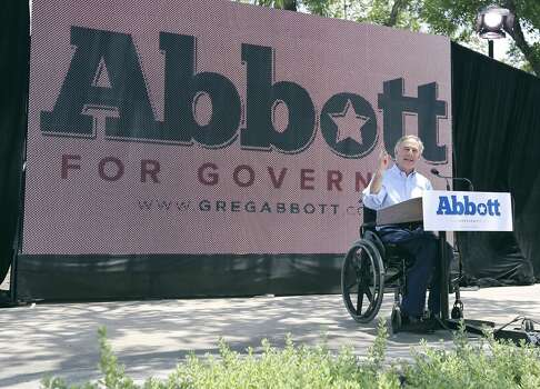 Texas Attorney General Greg Abbott announces his bid July 14, 2013, in La Villita in San Antonio. Photo: Edward A. Ornelas, San Antonio Express-News