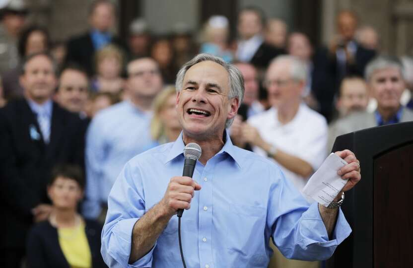 Abbott, shown at an anti-abortion rally at the Texas Capitol, hopes to seize the fiercely socially c