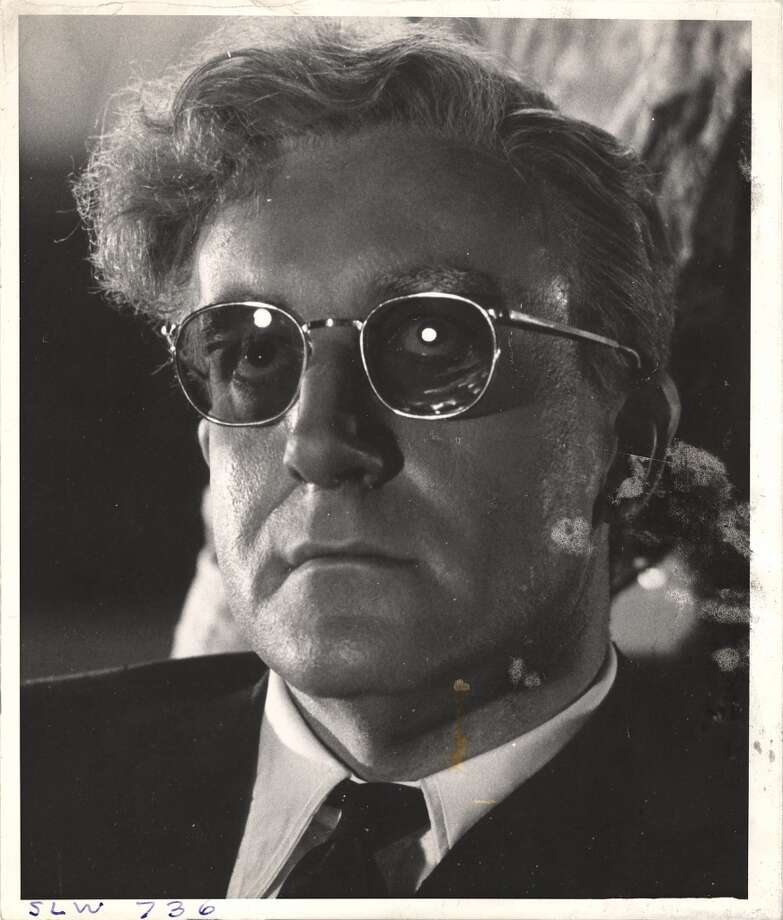 Close-up of British actor and comedian Peter Sellers on the set of the film 'Dr. Strangelove.' Photo: Weegee, Getty Images
