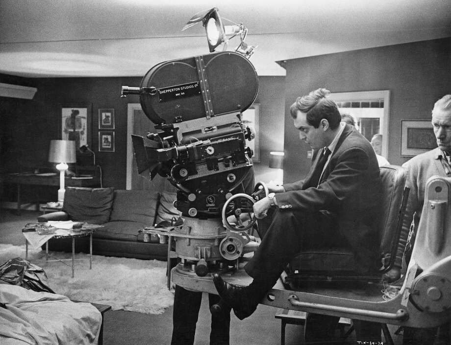 Stanley Kubrick on a camera dolly on the set of 'Dr. Strangelove.' Photo: Columbia Pictures, Getty Images