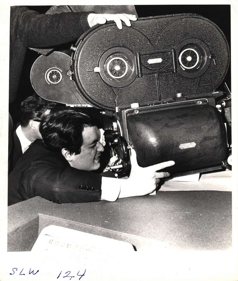 Stanley Kubrick looks through a camera during the filming of 'Dr. Strangelove, Or How I Learned to Stop Worrying and Love the Bomb.' Photo: Weegee, Getty Images