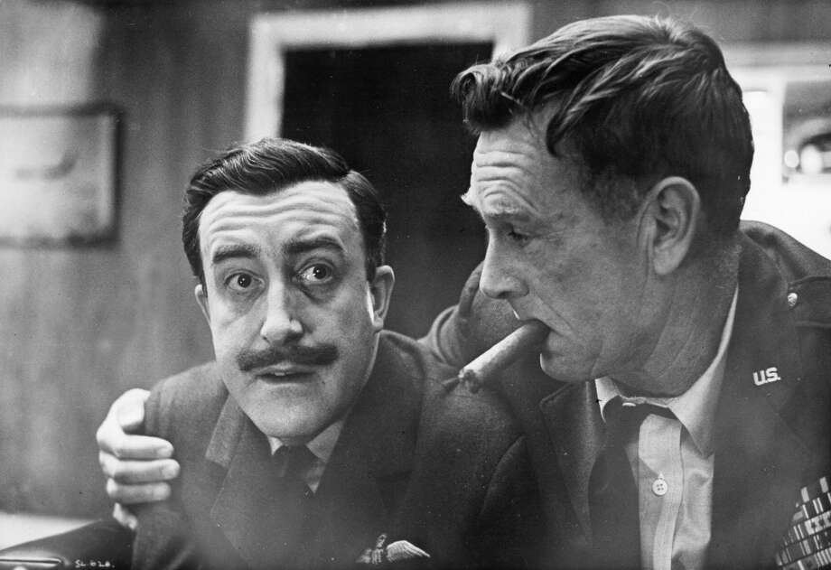 Actors Peter Sellers and Sterling Hayden in a scene from the movie. Photo: Michael Ochs Archives, Getty Images