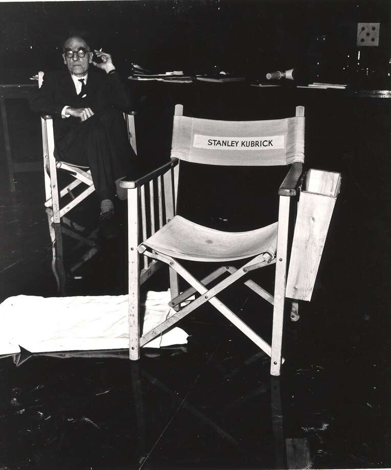 The chair belonging to American film director Stanley Kubrick on the set. Photo: Weegee, Getty Images