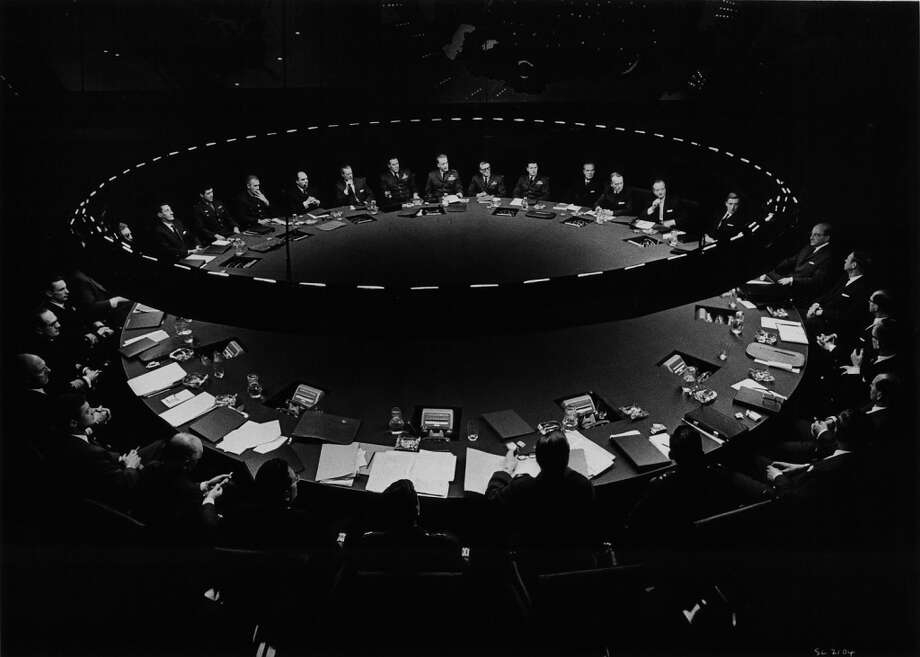 Scene from the War Room from the film 'Dr. Strangelove', 1964. Photo: Getty Images