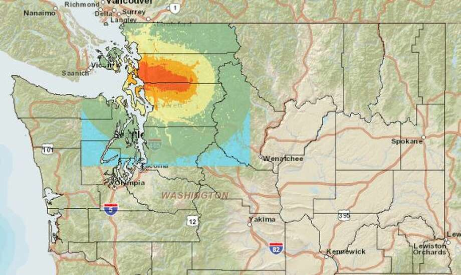 Devil's Mountain fault at 7.1 magnitude quake. Photo: Washington State Earthquake Hazards Scenario Catalog