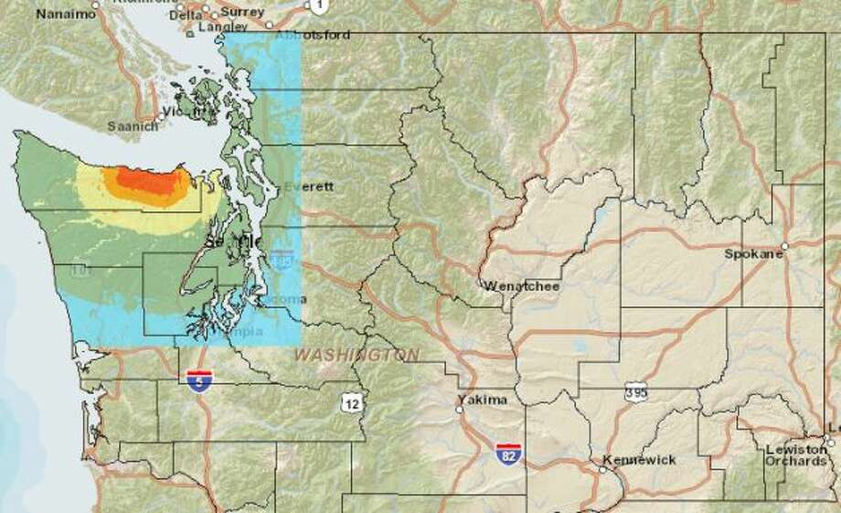 Lake Creek fault at 6.8 magnitude quake. Photo: Washington State Earthquake Hazards Scenario Catalog