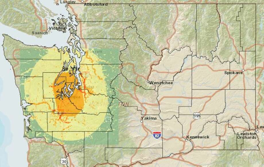 Nisqually fault 7.2 magnitude quake. Photo: Washington State Earthquake Hazards Scenario Catalog
