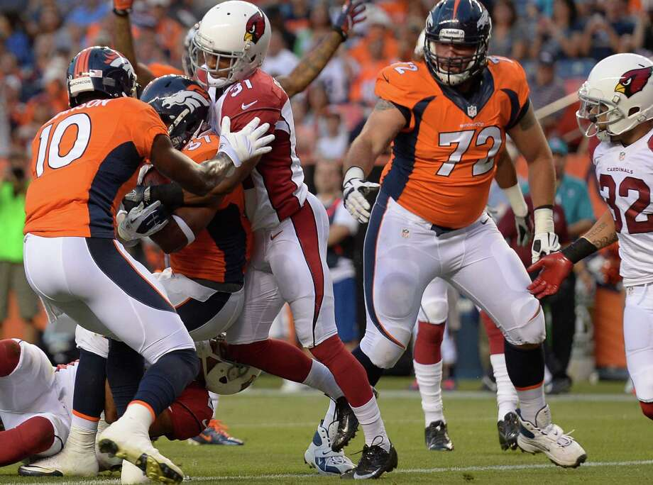 DENVER, CO - AUGUST 29: John Moffitt #72 during the first half on August 29, 2013 at Sports Authority Field at Mile High. The Denver Broncos hosted the Arizona Cardinals in the final game of the preseason. Photo: John Leyba, Denver Post Via Getty Images / Getty Images