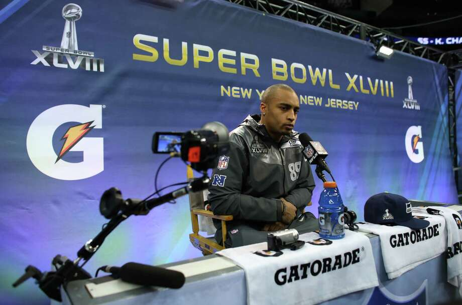 Seahawks player Doug Baldwin speaks during Super Bowl Media Day on Tuesday, January, 28, 2014 at the Prudential Center in Newark, NJ. During Media Day players are available for for interviews and photos. Photo: JOSHUA TRUJILLO, SEATTLEPI.COM / SEATTLEPI.COM