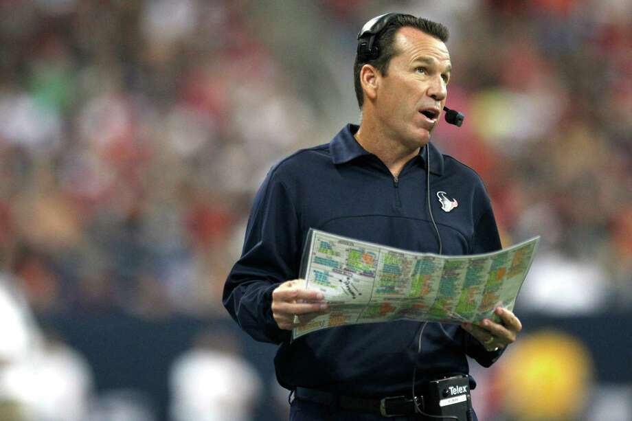 Handling the duties of an offensive coordinator without the glare of the head coach's spotlight is a better situation for Gary Kubiak. Photo: Brett Coomer, Staff / © 2013  Houston Chronicle