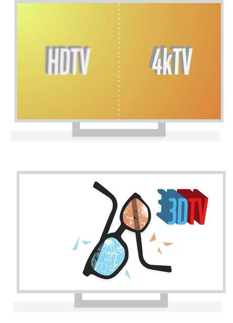 The latest greatest advent in television technology is here - the 4k TV. And industry insiders say it will thrive where the last much-hyped TV tech, 3D TVs, died. Why? Because there's actually content available in this new, super-hi resolution. Illustration by Christopher T. Fong / The Chronicle Photo: Christopher T. Fong