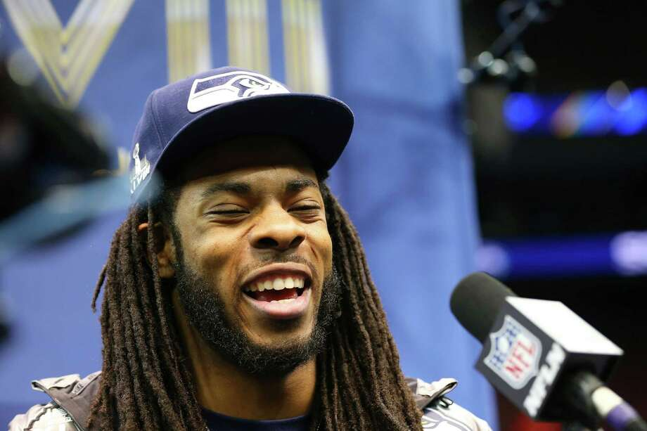 It's no surprise that Seahawks cornerback Richard Sherman was a popular interview subject on Tuesday. Photo: Elsa, Staff / 2014 Getty Images