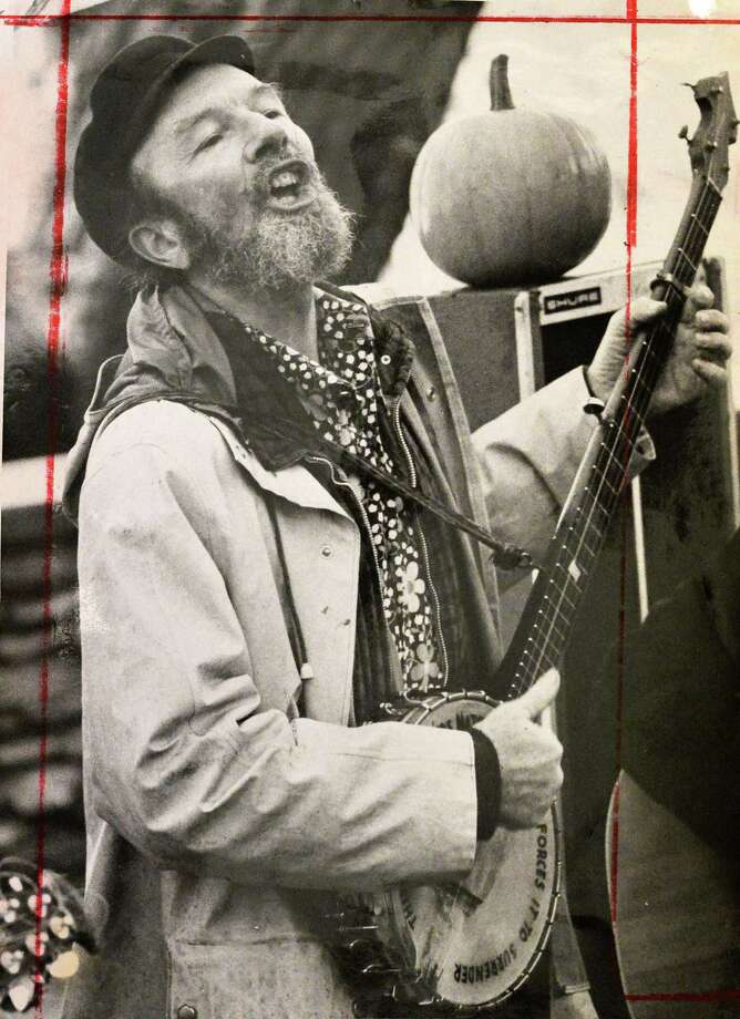 1974 file photo of folk singer Peter Seeger by staff photographer Jack Pinto from the Times Union archives. Photo: John Carl D'Annibale