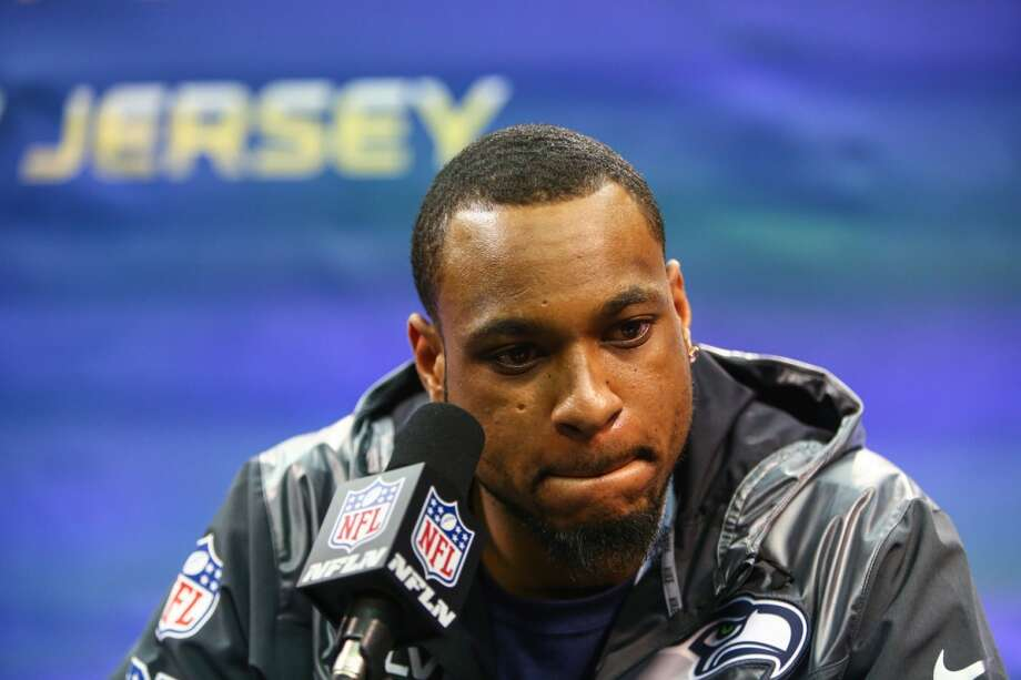 Seahawks player Percy Harvin speaks during Super Bowl Media Day on Tuesday, January, 28, 2014 at the Prudential Center in Newark, NJ. During Media Day players are available for for interviews and photos. The event takes on a circus atmosphere as players interact with reporters and celebrities. (Joshua Trujillo, seattlepi.com) Photo: JOSHUA TRUJILLO, SEATTLEPI.COM