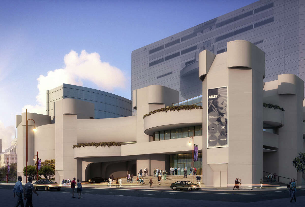 RENDERING - Alley Theatre renovation Exterior day