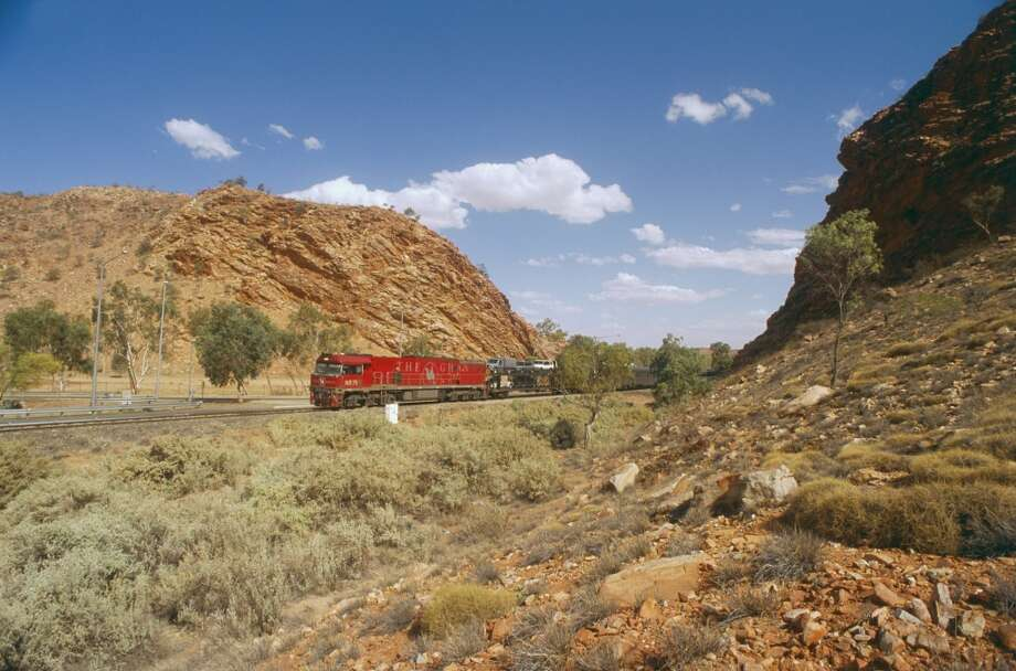 A one-way journey on the Ghan through central Australia takes 54 hours and covers more than 1,800 miles. Photo: Claver Carroll, Getty Images