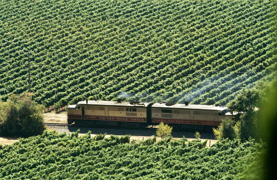 Vineyards fans out on either side of the Napa Valley Wine Train in Northern California. Photo: Hoberman Collection, UIG Via Getty Images / Universal Images Group Editorial