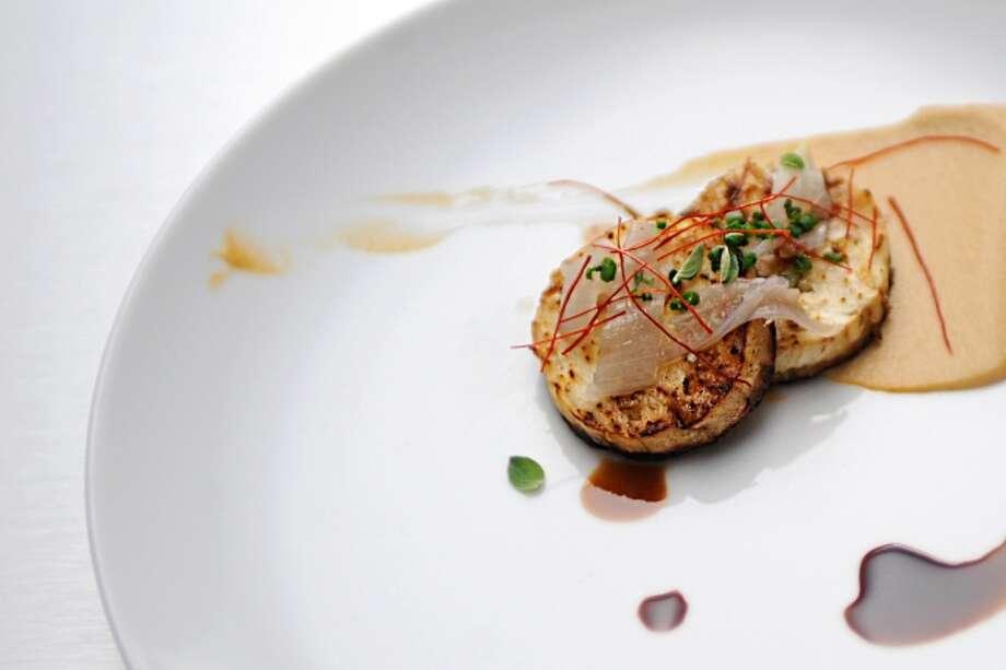 Nick: Roasted Eggplant with Sesame Seed Sriracha Tahini and Chili Threads