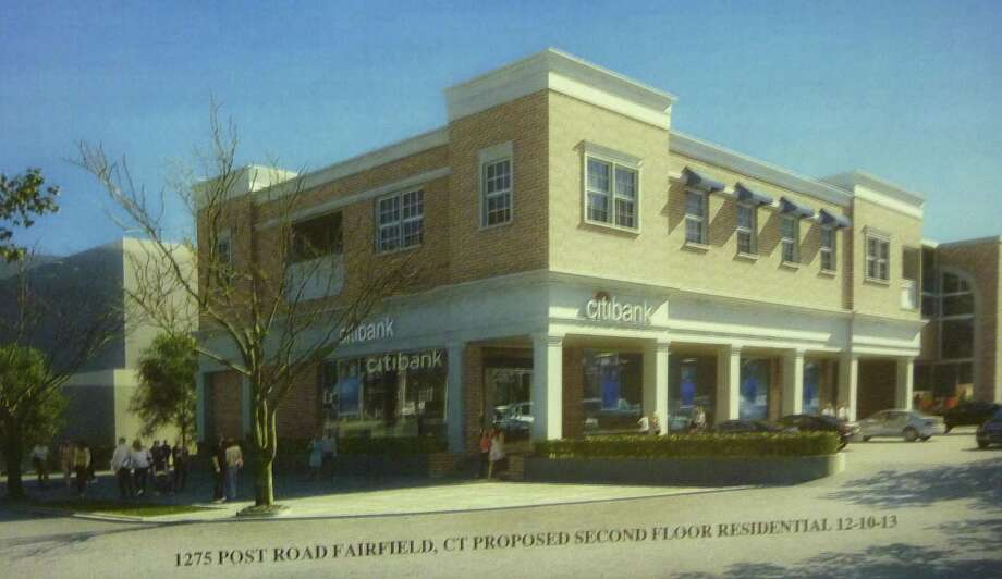 The Town Plan and Zoning Commission held a public hearing on an application to add  second floor apartments over the Citibank branch at the Brick Walk. Photo: Genevieve Reilly / Fairfield Citizen