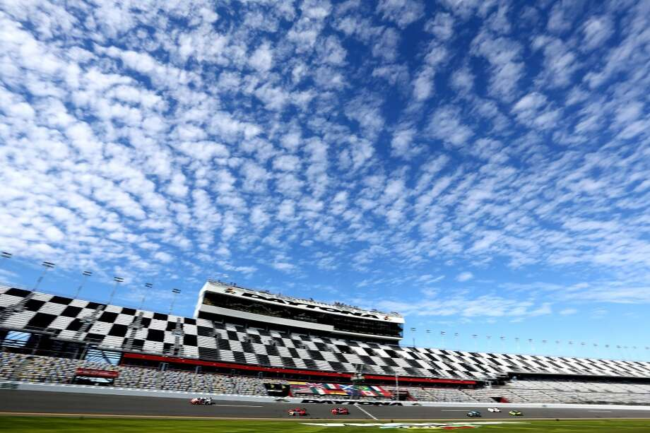 A general view of Daytona Speedway during practice for the Rolex 24 at Daytona International Speedway in Daytona Beach, Florida. Photo: Jerry Markland, Getty Images