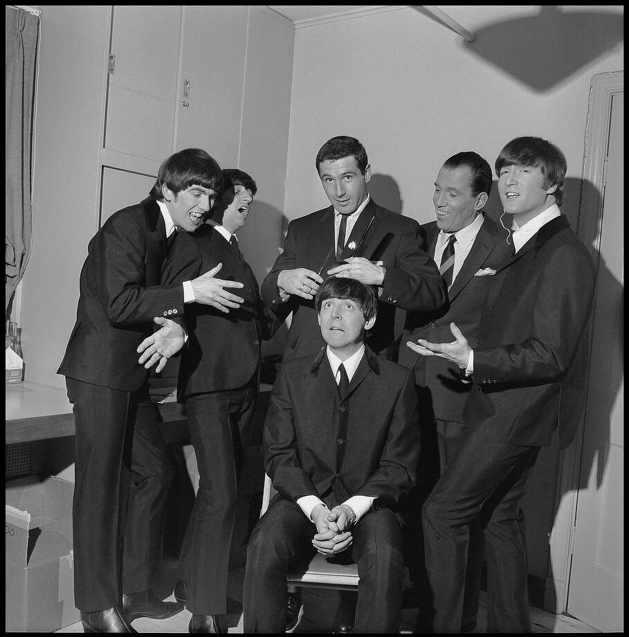 "The Beatles get ready for their American television debut backstage at ""The Ed Sullivan Show."" Photo: CBS Photo Archive, Getty Images / 1964 CBS WORLDWIDE INC."