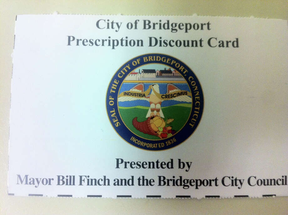 Bridgeport is providing prescription discount cards (pictured) to city residents. The card will provide uninsured and underinsured residents savings on prescription medications. The card also gives residents price breaks on hearing aids, eye exams and some pet medications. Photo: Contributed Photo / Connecticut Post Contributed