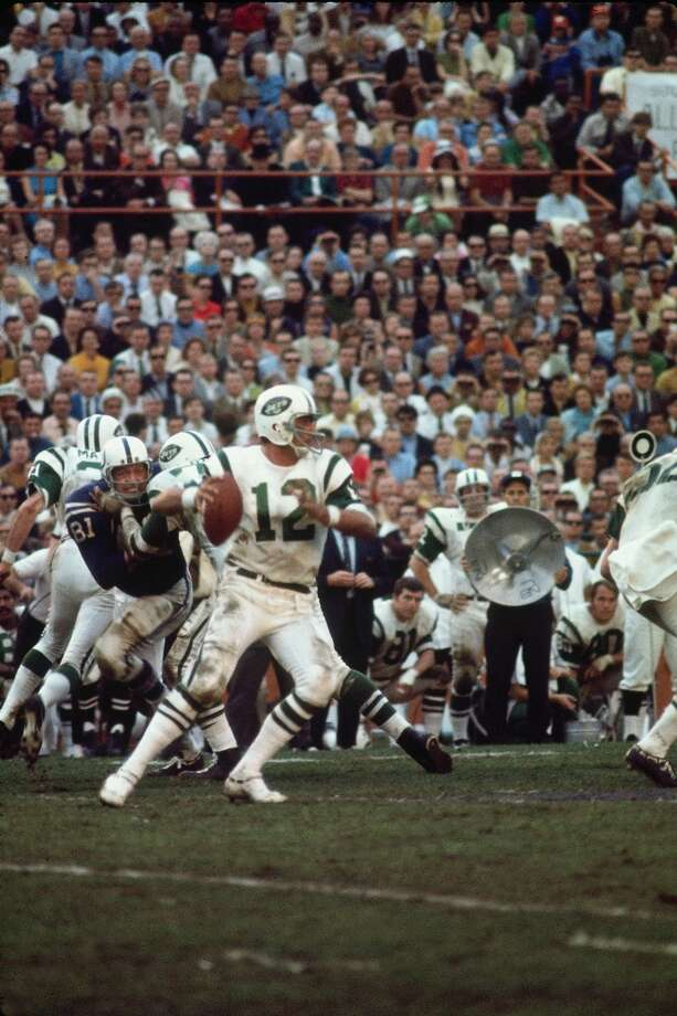 Super Bowl III New York Jets 16, Baltimore Colts 7 Jan. 12, 1969  MVP— Joe Namath, QB, New York Jets  Stats: 206 passing yards Photo: Herb Scharfman, Getty Images/Sports Images