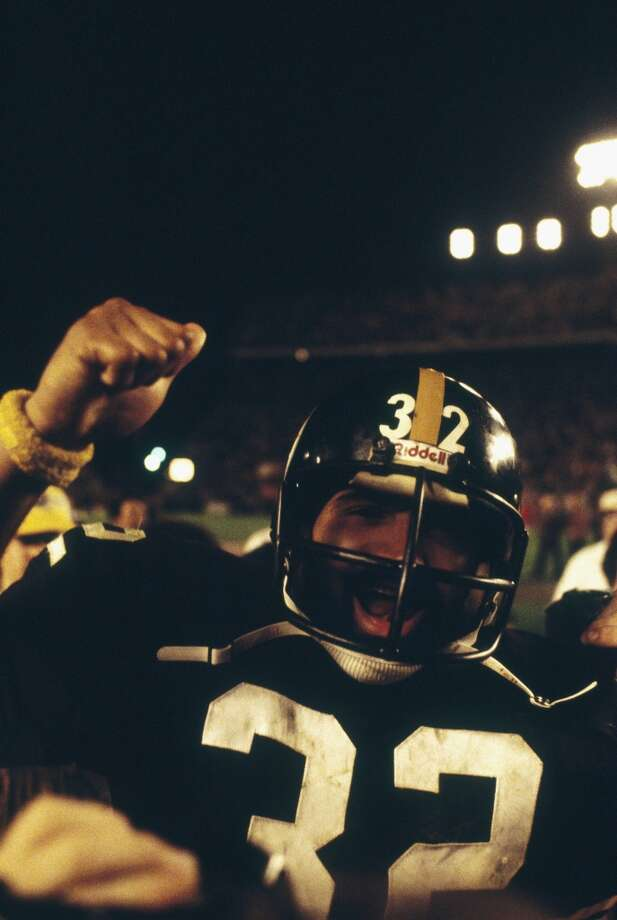 Super Bowl IX Pittsburgh Steelers 16, Minnesota Vikings 6 Jan. 12, 1975  MVP — Franco Harris, RB Pittsburgh Steelers  Stats: 34 carries, 158 rushing yards, 1 touchdown Photo: Focus On Sport, Getty Images