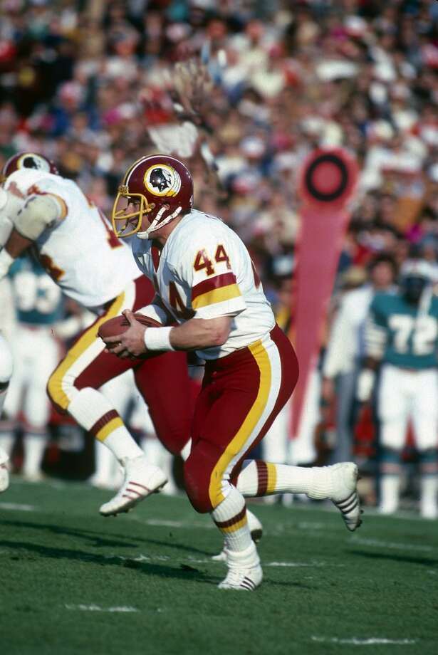 Super Bowl XVII Washington Redskins 27, Miami Dolphins 17 Jan. 30, 1983  MVP — John Riggins, RB, Washington Redskins  Stats: 38 carries, 166 rushing yards, 1 touchdown, 1 reception - 15 yards, 1 touchdown Photo: Focus On Sport, Getty Images