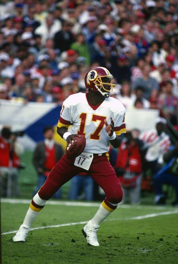 Super Bowl XXII Washington Redskins 42, Broncos 10 Jan. 31, 1988  MVP — Doug Williams, QB, Washington Redskins  Stats: 340 passing yards, 4 touchdowns, 1 interception Photo: Focus On Sport, Getty Images