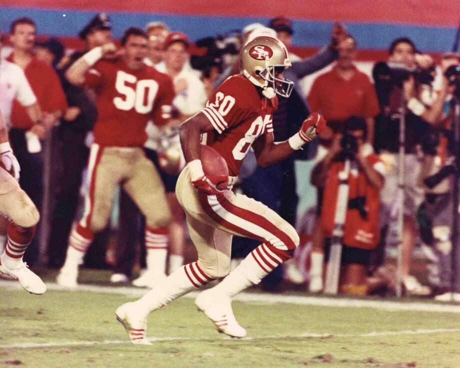 Super Bowl XXIII San Francisco 49ers 20, Cincinnati Bengals 16 Jan. 22, 1989  MVP — Jerry Rice, WR, San Francisco 49ers  Stats: 11 receptions, 215 yards, 1 touchdown Photo: Sylvia Allen, Getty Images