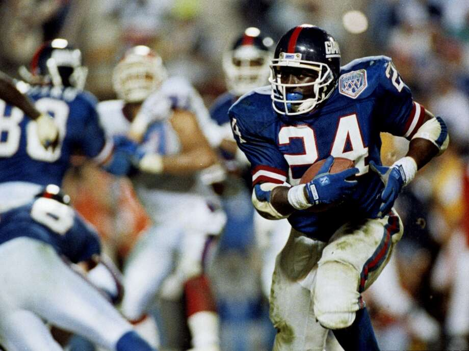 Super Bowl XXV New York Giants 20, Buffalo Bills 19 Jan. 27, 1991  MVP — Ottis Anderson, RB, New York Giants  Stats: 21 carries, 102 rushing yards, 1 touchdown, 1 reception - 7 yards Photo: Allen Dean Steele, Getty Images