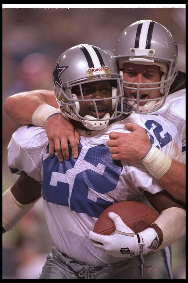Super Bowl XXVIII Dallas Cowboys 30, Buffalo Bills 13 Jan. 30, 1994  MVP — Emmitt Smith, RB, Dallas Cowboys  Stats: 30 carries, 132 rushing yards, two touchdowns, 4 receptions - 26 yards Photo: Jonathan Daniel, Getty Images