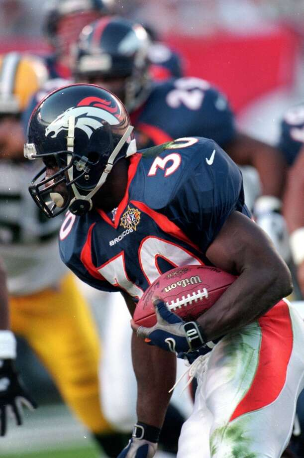 Super Bowl XXXII Denver Broncos 31, Green Bay Packers 24 Jan. 25, 1998  MVP — Terrell Davis, RB, Denver Broncos  Stats: 157 rushing yards, 30 carries, 3 touchdowns Photo: Rick Stewart, Getty Images