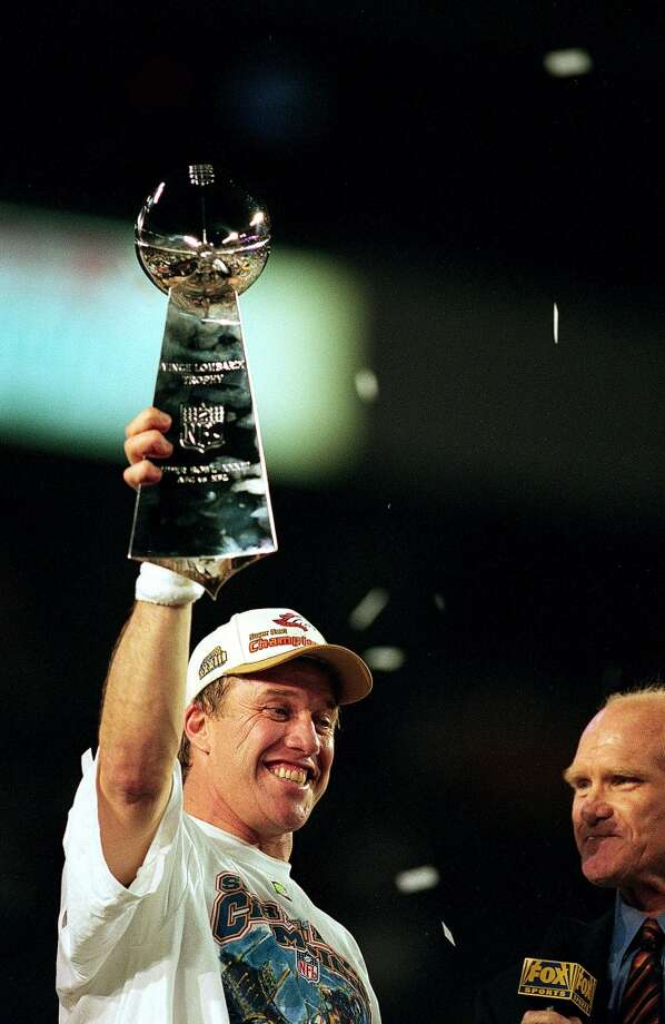 Super Bowl XXXIII Denver Broncos 34, Atlanta Falcons 19 Jan. 31, 1999  MVP — John Elway, QB, Denver Broncos  Stats: 336 passing yards, 1 touchdown, 1 interception Photo: Andy Lyons, Getty Images