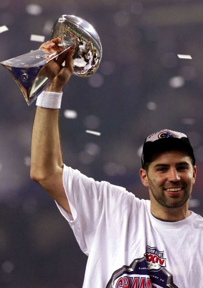 Super Bowl XXXIV St. Louis Rams 23, Tennessee Titans 16 Jan. 30, 2000  MVP — Kurt Warner, QB, St. Louis Rams  Stats: 414 passing yards, 2 touchdowns Photo: Doug Mills, Associated Press