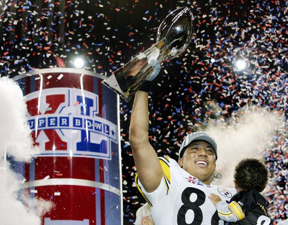 Super Bowl XL Pittsburgh Steelers 21, Seattle Seahawks 10 Feb. 5, 2006  MVP — Hines Ward, WR, Pittsburgh Steelers  Stats: 5 receptions, 123 yards, 1 touchdown Photo: Jeff Haynes, AFP/Getty Images
