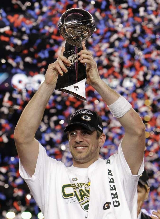 Super Bowl XLV Green Bay Packers 31, Pittsburgh Steelers 25 Feb. 6, 2011  MVP — Aaron Rodgers, QB, Green Pay Packers  Stats: 304 passing yards, 3 touchdowns Photo: Rob Humphrey, Associated Press