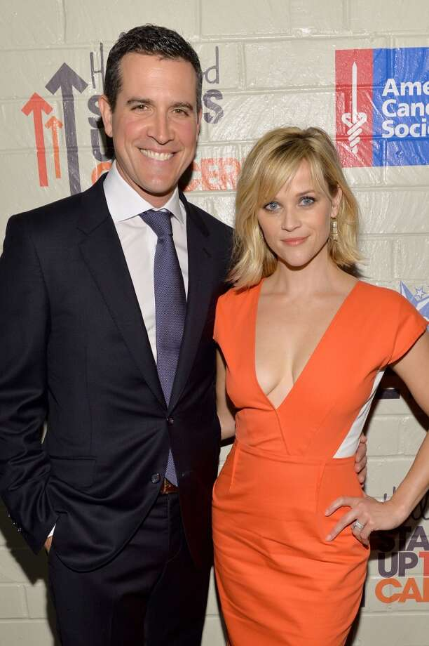 Co-Hosts Reese Witherspoon (R) and Jim Toth attend Hollywood Stands Up To Cancer Event with contributors American Cancer Society and Bristol Myers Squibb hosted by Jim Toth and Reese Witherspoon and the Entertainment Industry Foundation on Tuesday, January 28, 2014 in Culver City, California. Photo: Michael Buckner, Getty Images For Entertainment Industry Foundation