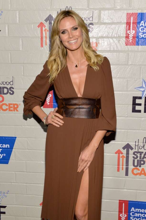 Model Heidi Klum attends Hollywood Stands Up To Cancer Event with contributors American Cancer Society and Bristol Myers Squibb hosted by Jim Toth and Reese Witherspoon and the Entertainment Industry Foundation on Tuesday, January 28, 2014 in Culver City, California. Photo: Michael Buckner, Getty Images For Entertainment Industry Foundation