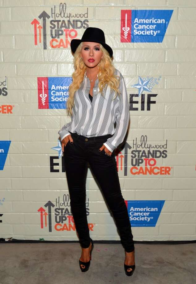 Singer/songwriter Christina Aguilera attends Hollywood Stands Up To Cancer Event with contributors American Cancer Society and Bristol Myers Squibb hosted by Jim Toth and Reese Witherspoon and the Entertainment Industry Foundation on Tuesday, January 28, 2014 in Culver City, California. Photo: Charley Gallay, Getty Images For Entertainment Industry Foundation