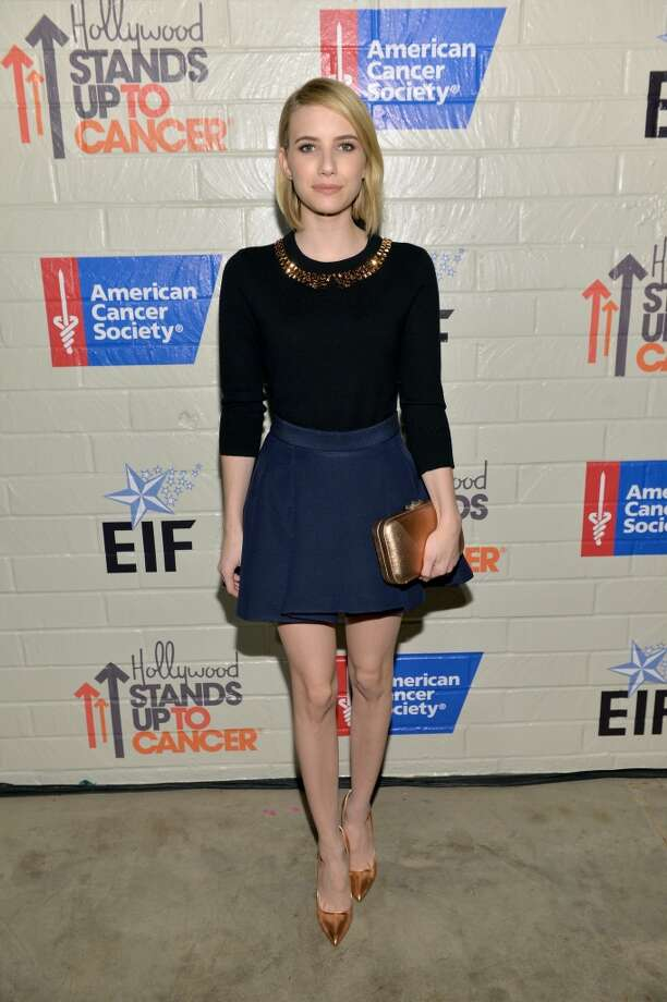 Actress Emma Roberts attends Hollywood Stands Up To Cancer Event with contributors American Cancer Society and Bristol Myers Squibb hosted by Jim Toth and Reese Witherspoon and the Entertainment Industry Foundation on Tuesday, January 28, 2014 in Culver City, California. Photo: Michael Buckner, Getty Images For Entertainment Industry Foundation