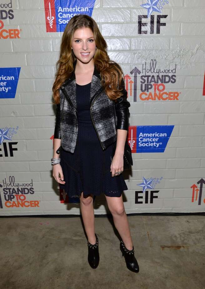 Actress Anna Kendrick attends Hollywood Stands Up To Cancer Event with contributors American Cancer Society and Bristol Myers Squibb hosted by Jim Toth and Reese Witherspoon and the Entertainment Industry Foundation on Tuesday, January 28, 2014 in Culver City, California. Photo: Michael Buckner, Getty Images For Entertainment Industry Foundation