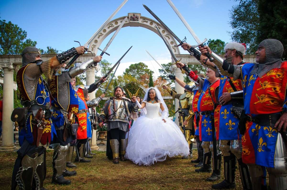 If you'd prefer to get married in costume and speak in a strange accent, you can get married at the Texas Renaissance Festival in Plantersville.