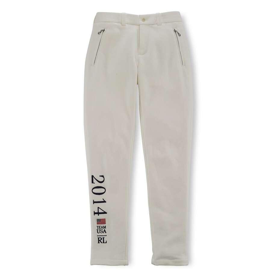 Ralph Lauren's Team USA pants ($165) Photo: PETER MERETSKY/TAT, Ralph Lauren