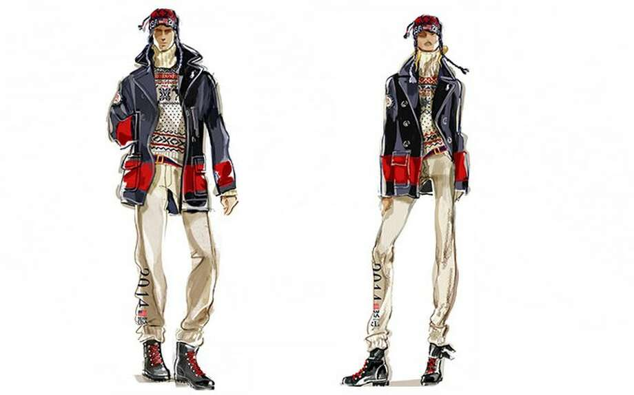Sketches of the Ralph Lauren Team USA Olympics closing ceremony uniforms from Ralph Lauren. Photo: Ralph Lauren