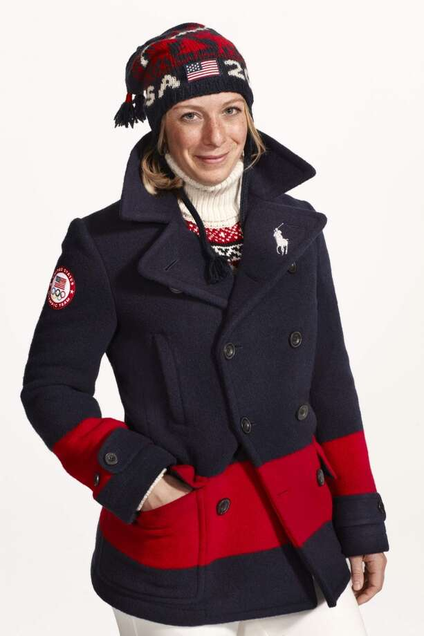 American skier Hannah Kearney wearing a Ralph Lauren uniform for the United States Olympic team in 2014. (Ralph Lauren via The New York Times) Photo: RALPH LAUREN, New York Times