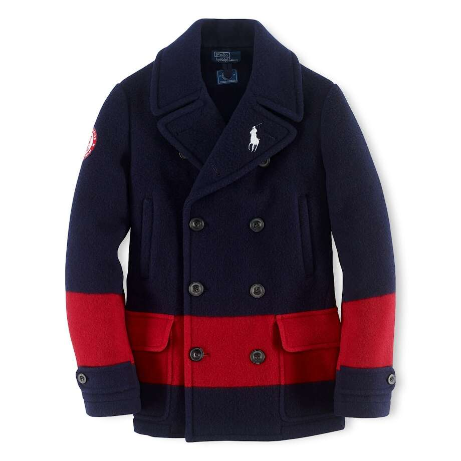 Ralph Lauren's Team USA pea coat ($795) Photo: ANDREW DE FRANCESCO/VANESSA MORA, Ralph Lauren